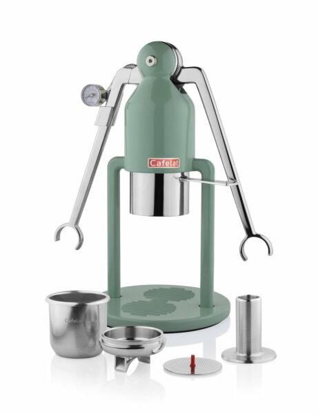 CAFELAT | Robot BARISTA | Retro Green