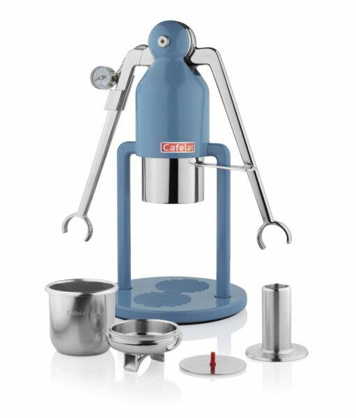 CAFELAT | Robot BARISTA | Retro Blue